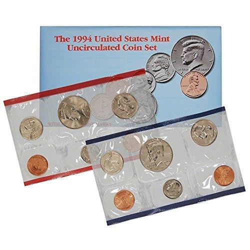 1994 P & D US Mint 10-Coin Mint Set Uncirculated ()