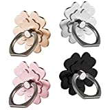 Phone Ring Stand Holder /4 Piece,Finger Grip Stand Holder Ring Car Mount 360° Rotation Phone Ring Grip for Samsung Galaxy iPhone 7 8 X Plus case Tablet PC Smartphone Phone Ring (Flower 4Piece)