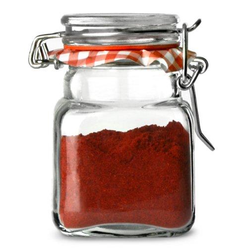 Kilner 70 ml Mini Spice Herb Clip Top Jam Jars (Pack of 12) Rayware