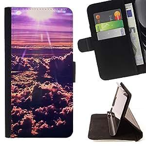 Momo Phone Case / Flip Funda de Cuero Case Cover - Nubes de Sun;;;;;;;; - Sony Xperia M2