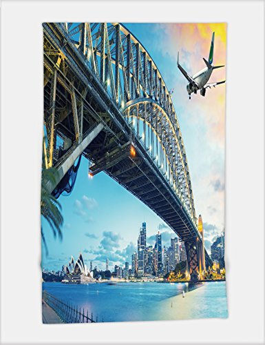 Minicoso Bath Towel passenger airplane over sydney australia travel concept 357117713 For Spa Beach Pool Bath