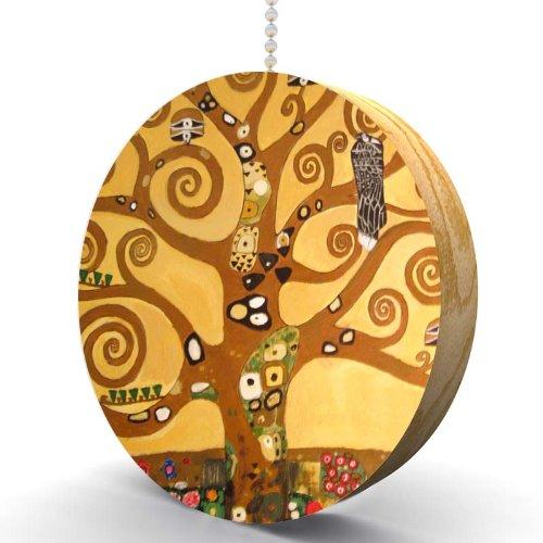 Gustav Klimt Tree of Life Hardwood Oak Fan / Light ()