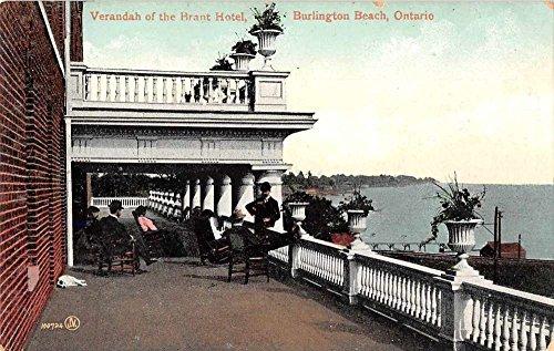 Burlington Beach Ontario Canada verandah of Brant Hotel antique pc -