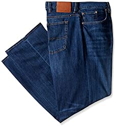 Lucky Brand Men's Big and Tall 181 Relaxed Straight Leg Jean in, Cozumel, 44W X 30L