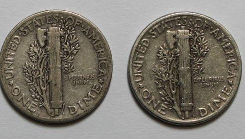 1916 -D Mercury Dime - F/VF Condition (1916 D Mercury Dime)