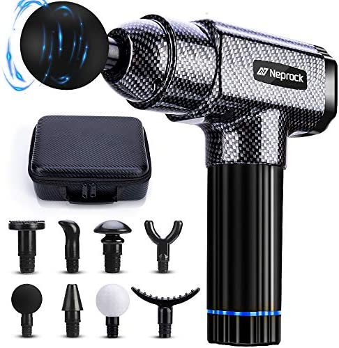Massage Gun Deep Tissue Massager, 20 Speeds Percussion Muscle Massage Gun for Athletes with Carrying Case & 8 Heads, Help Relieve Sore Muscle and Stiffness