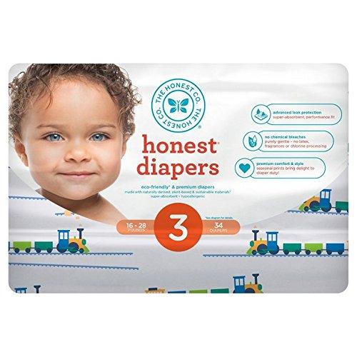 Honest Diaper Size 3 (16-28 Lbs.) 34 count