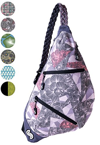 Slope Sling Bag for Women Kids School Crossbody Shoulder Backpack One Strap Daypack - (Signature Sling Handbag)