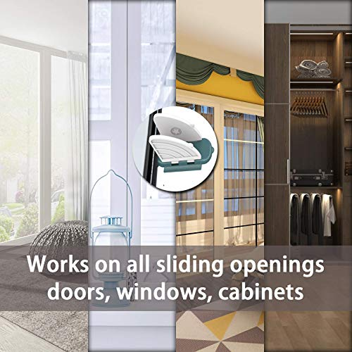 Sliding Door Lock for Child Safety (8 Pack), Bbay Proof Slide Window Lock with Adhesive Tape, Child Window Locks for Shutter, Patio, Closet, Shower Sliding Door and More