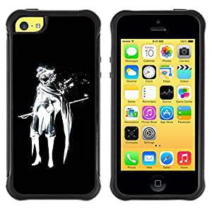 BullDog Case@ cool anime black white sir Rugged Hybrid Armor Slim Protection Case Cover Shell For iphone 5C CASE Cover ,iphone 5C case,iphone5C cover ,Cases for iphone 5C