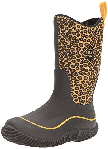 Muck Boot MuckBoots Girls' Hale Pull-On Boot, Orange Cheetah, 5 M US Big Kid