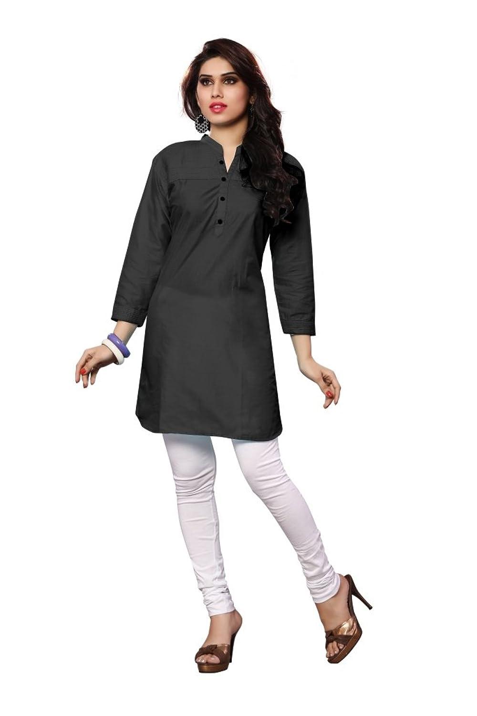 Muta Fashions Black Kurti For Modern Women Kurtas for Girls Fabric (Black)
