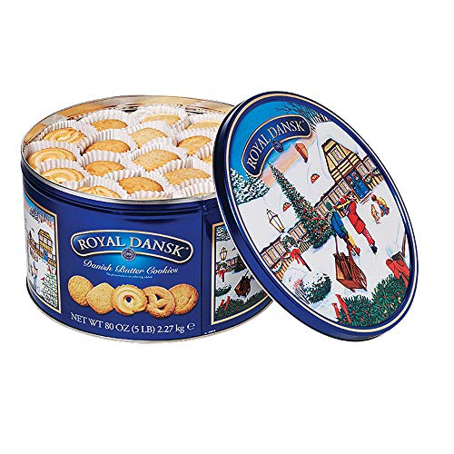 Royal Dansk Danish Butter Cookie Assortment, 80 Ounce, Pack of 1