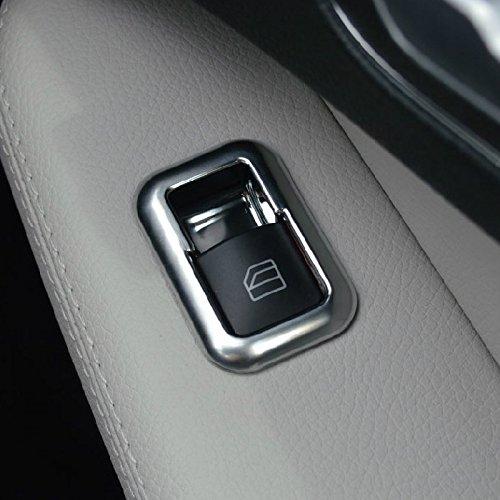 TOOGOO Cubierta del Panel Interruptor De Ventana De Puerta De Cromo Mate Recorte De Estilo De Coche para Mercedes C Glk Class W176 W246 W204 W212 W218 X204