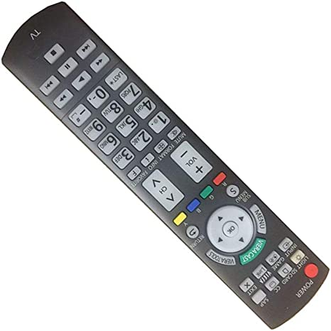Easy Replacement Remote Control Suitable for Panasonic TC-P42ST30 TC-P46ST30 Viera LCD LED TV