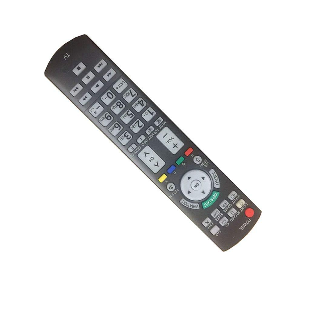 簡単交換リモートConrtrol for Panasonic th-50pz700ua tc-p58s2 tc-32lx300 Viera LCD LED TV B01MTZWK5F