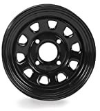 ITP Delta Steel Wheel 12x7 4+3 4/137 BLK for Kawasaki Mule Teryx