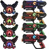 Infrared Laser Tag Guns and Vests - Laser Battle Mega Pack Set of 4 - Infrared 0.9mW