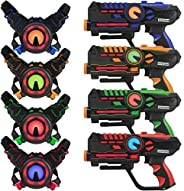 ArmoGear Laser Tag – Laser Tag Guns with Vests Set of 4 – Multi Player Laser Tag Set for Teenager Kids and Adu