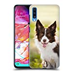 Head Case Designs Brown Border Collie in Summer Popular Dog Breeds Hard Back Case Compatible for Samsung Galaxy A70 (2019) 6