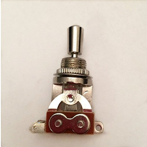 Chrome Electric Guitar 3 Way Toggle Switch Pickup Selector Switch with Brass Tip Knob (Pickup Selector Switch)