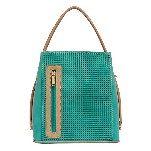 samoe-style-two-tone-turquoise-punched-classic-convertible-handbag