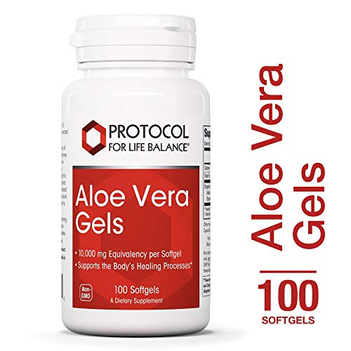 - Protocol For Life Balance - Aloe Vera Gels - Bioactive Mucopolysaccharides to Support the Body's Healing Processes, Constipation Relief, Strengthens Immune System, Digestion Support - 100 Softgels