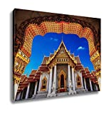 Ashley Canvas Temple In Bangkok Beautiful Thai Temple Wat Benjamaborphit Wall Art Decoration Picture Painting Photo Photograph Poster Artworks, 20x25