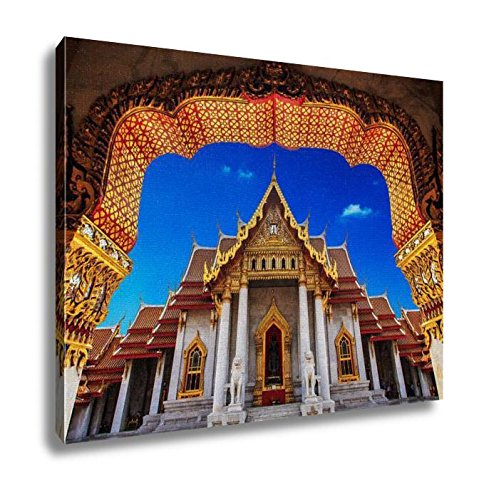 Ashley Canvas Temple In Bangkok Beautiful Thai Temple Wat Benjamaborphit Wall Art Decoration Picture Painting Photo Photograph Poster Artworks, 20x25 by Ashley Canvas
