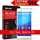 Xperia Z3+ / Z3 Plus / Z4 Glass Screen Protector, AnoKe [Lifetime Warranty](0.3mm 9H 2.5D) Best Tempered Glass Screen Protector Film Shield Guard For Sony XperiaZ3+ / Z3 Plus / Z4 Glass