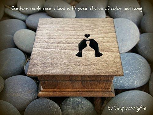 Music box, custom made music box, handmade music box, love birds, wedding gift, anniversary gift, simplycoolgifts