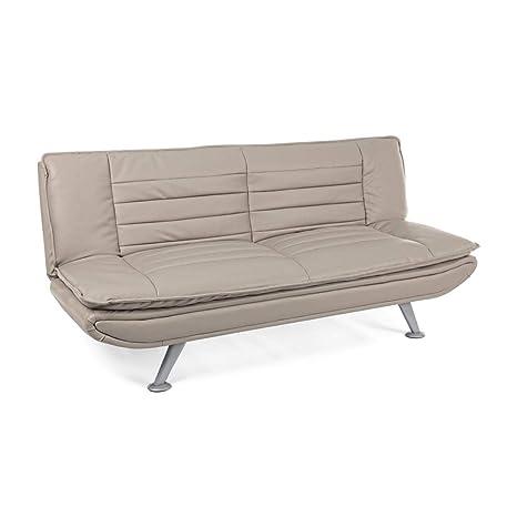 ARREDinITALY - Sofá Cama Sofa S, de Piel sintética, Color ...