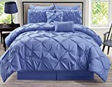 12 Piece Rochelle Pinched Pleat Lavender Bed in a Bag Set Queen