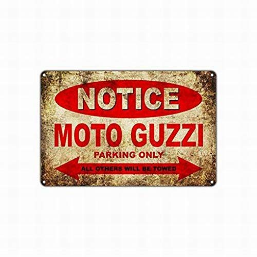 thr17EHUX Moto Guzzi Motorcycles Bikes Only All Others Will Be Towed Parking Sign Metal Warning Signs Funny Home Decor Notice Sign Wall Plaque 8