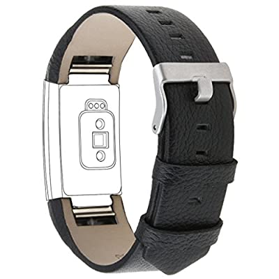 Henoda Genuine Leather Bands for Fitbit Charge 2, Charge 2 Strap Style