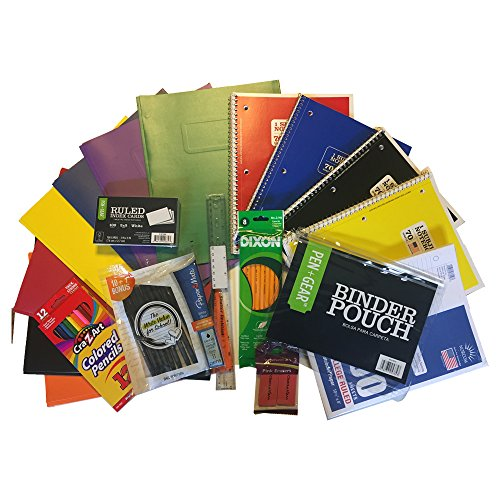 Back To School Supplies Fully Loaded Classroom Bundle 68 Pieces includes all you need in the classroom: Paper, Notebook, Pens, Pencils, Folders, Erasers, and more