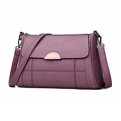 Women Small Handbag Satchel Women Crossbody Purse Shoulder Alovhad Purple Bag Leather Hobo Bag pTqxax