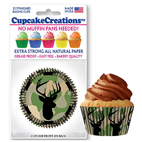 Deer & Camo Baking Cup Liners, 32 Count by Cupcake Creations