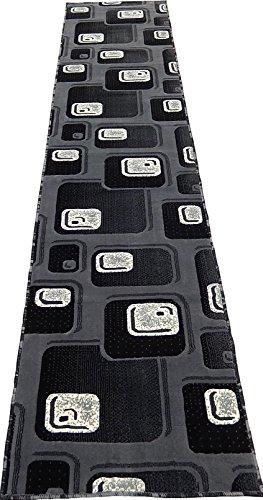 KJGRUG Runner Persian Geometric 3x10 Area Rug Carpet Gray Black Actual Size 2'3 x 10'10'