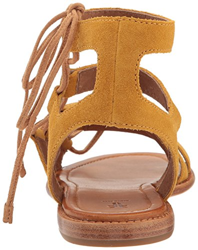 Frye Womens Blair Side Ghillie Gladiator Sandal Giallo
