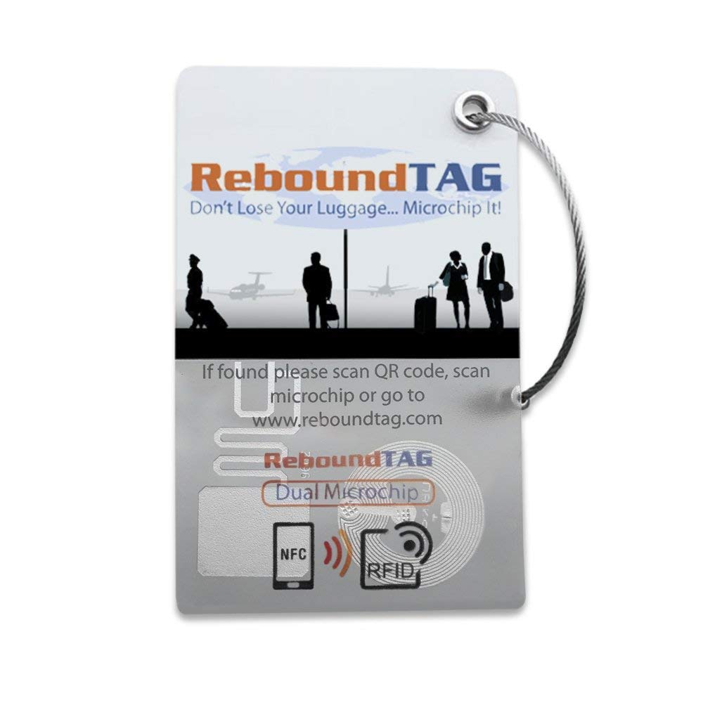 ReboundTAG Smart Luggage Tag: RFID, NFC, QR Code: Includes Customer Service Contact To Help You Find Your Lost Luggage