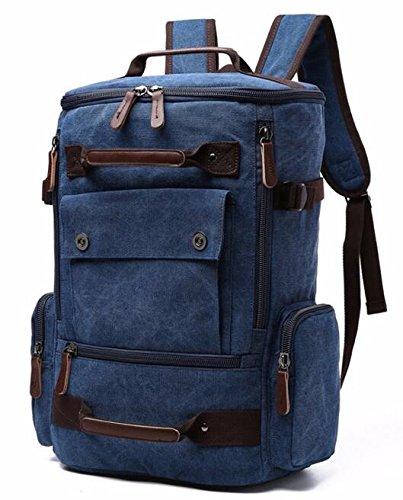 (NO 2)New Vintage Backpack Fashion Canvas Backpack Leisure Travel School Bags Unisex Laptop Backpacks Men Backpack - Canvas Healthy Back Bag