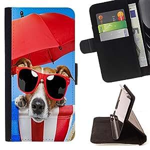 - Cute Funny Beach Dog Sunglasses/ Personalizada del estilo del dise???¡¯???¡Ào de la PU Caso de encargo del cuero del tir???¡¯????n del s - Cao - For Sam