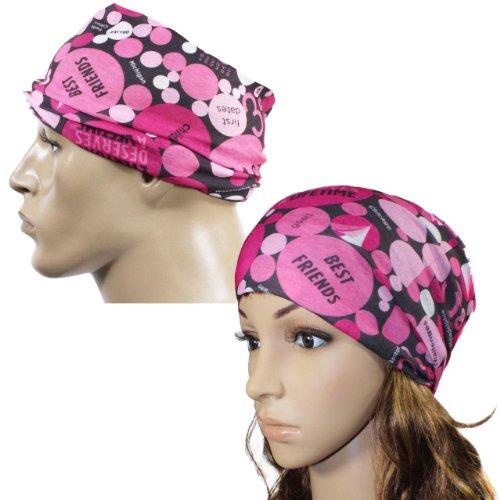 Multi-fonctionnel usure de la tête en microfibre - Cancer du sein (Rose)