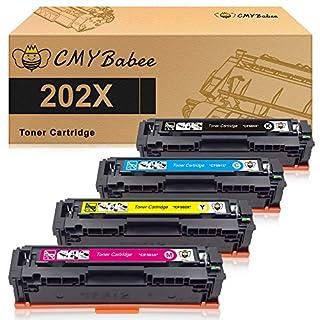 CMYBabee Compatible Toner Cartridges Replacement for HP 202X 202A HP CF500A CF500X for HP Laserjet Pro M281fdw M254dw M254dn M254nw M281dw MFP M281fdn M281cdw M281 M254 - 4Pack