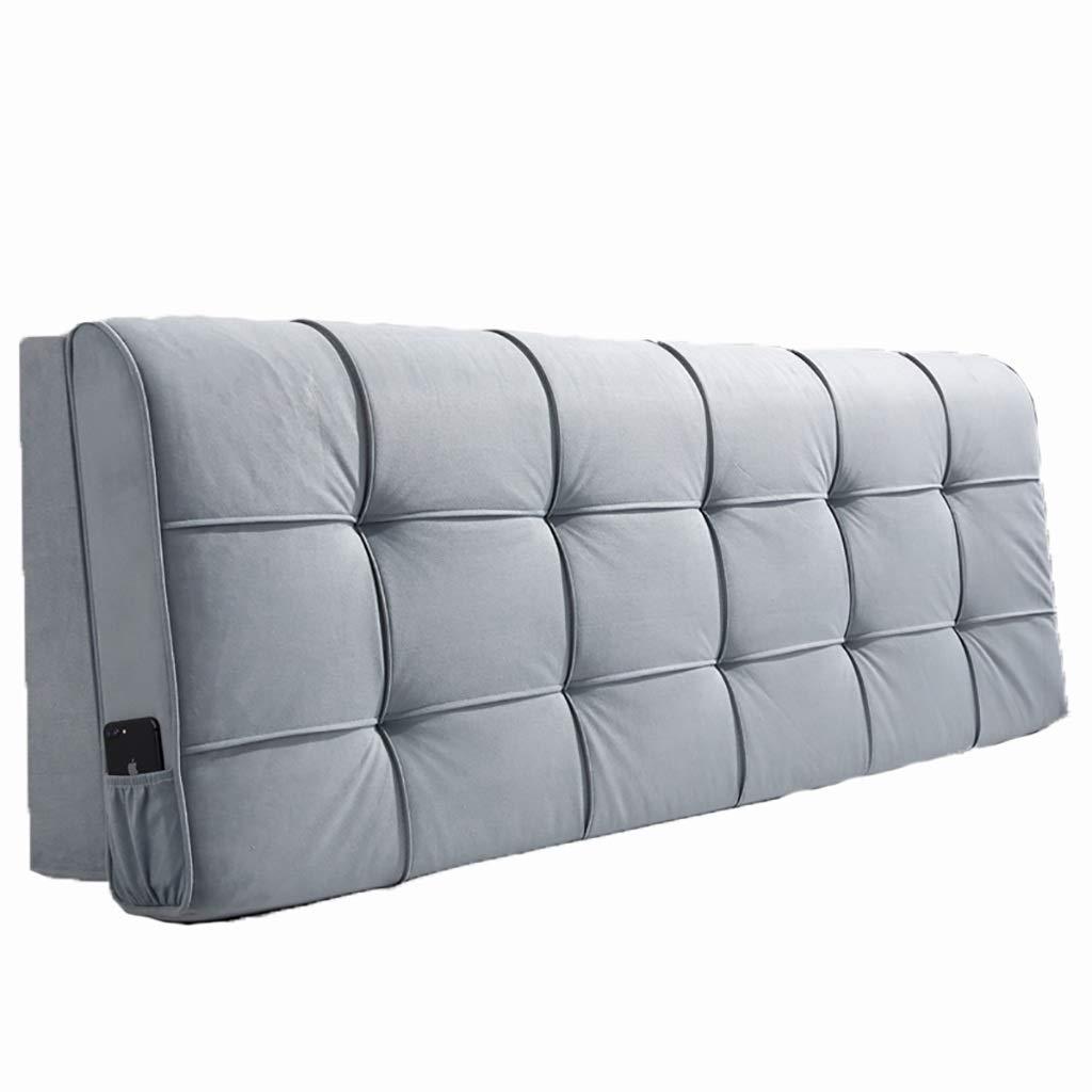 ベッド枕 ベッドサイドクッションソフトバッグ大背もたれシンプルなダブルぬいぐるみ素材取り外し可能な洗える枕ベッドカバーセットベッドサイド使用スポンジフィラーサイズ90センチメートル - 200センチメートル 写真ベッド枕首まくら (色 : I, サイズ さいず : 120cm) B07S3GDXCY