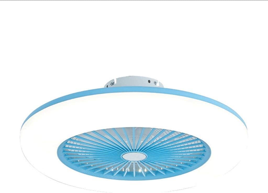 Ventilador De Techo con Iluminación Ventilador De Techo LED Ventilador De Luz Velocidad del Viento Ajustable Control Remoto Ajustable 80W LED Luz De Techo Color Opcional,Azul,110V