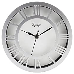 Equity by La Crosse 20862 8 Nickel Wall Clock
