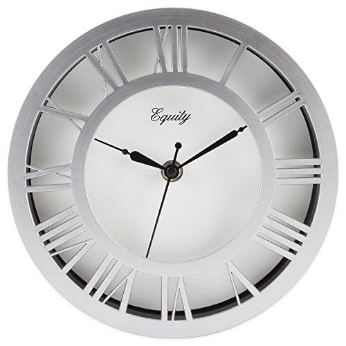 (Equity by La Crosse 20862 8 inch Nickel Wall Clock)