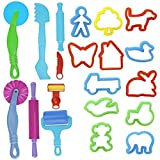 ROSENICE Clay Models Dough Tools Kit Smart Clay Tool Gift with Molds 20pcs Random Color